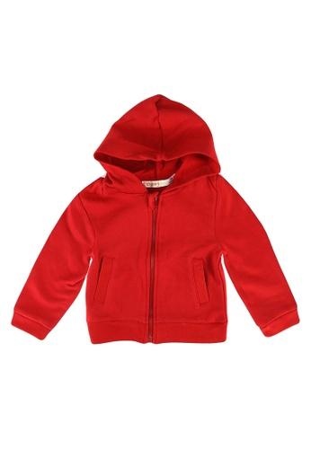 Babybol red Baby Full Zip Hoodie 3CE8AKA8E742D0GS_1