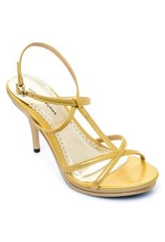 Damosel Ankle Strap Heels Sandals