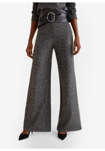 Mango grey Virgin Wool Trousers B230BAA7814238GS_1