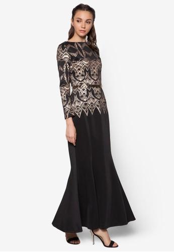 Geometric Foil Print Mermaid Drezalora 衣服尺寸ss, 服飾, 服飾