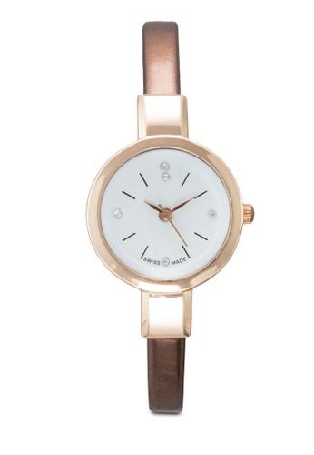 esprit 工作水鑽細仿皮圓錶, 錶類, 其它錶帶