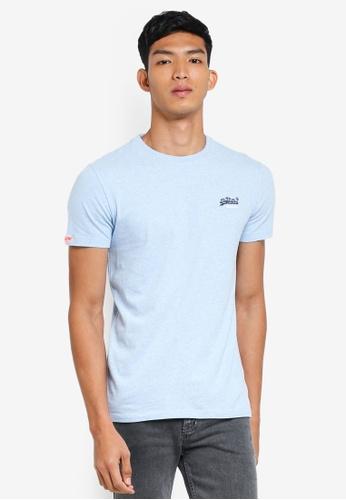 Superdry 藍色 短袖印花T恤 641F5AAF048D1DGS_1