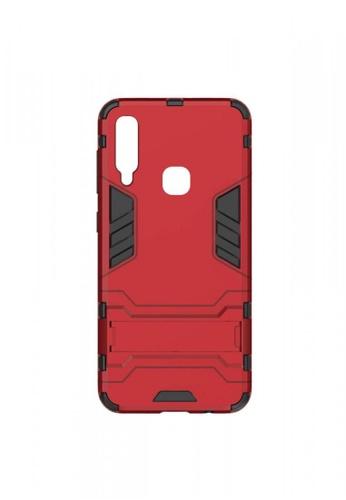 MobileHub red Samsung A30 Hybrid Defender Case with Kickstand 23CCAAC59A3128GS_1