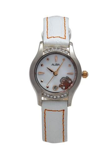 Alba white ALBA Jam Tangan Wanita - White Silver - Leather Strap - AXT379 379EBAC983538DGS_1
