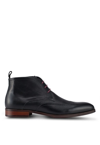 Dune London black Malone Formal Brogue Chukkas 92ADBSH6BE6F9EGS_1