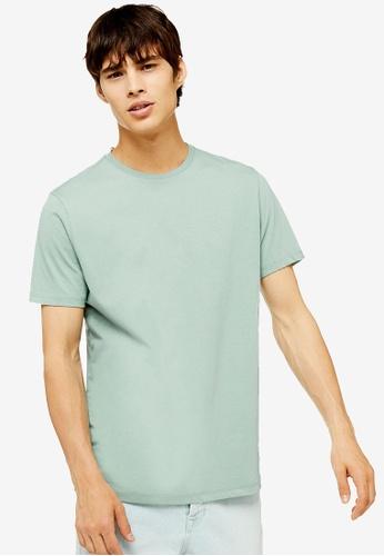 Topman 綠色 經典T恤 E9330AADE62A34GS_1