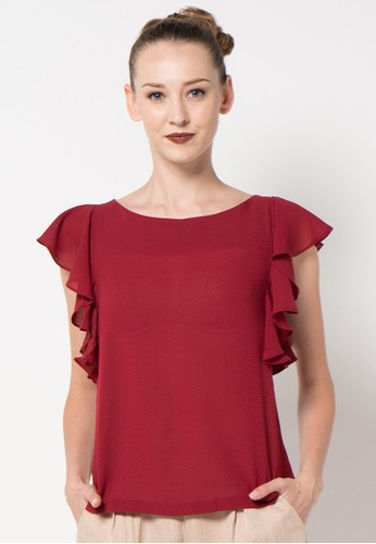 WHITEMODE red Luna Blouse WH193AA52AMLID_1
