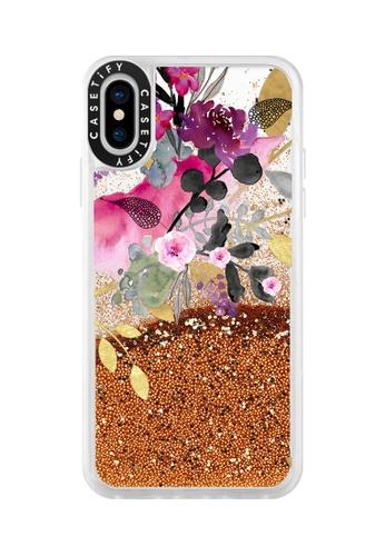 huge discount b163e e048c Flower & Gold Glitter Case for iPhone XS/ iPhone X