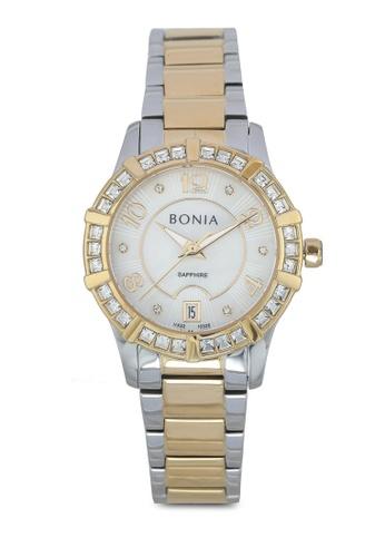 BONIA silver Bonia BNB10326-2153S Silver/Gold Stainless Steel Watch BO777AC0SE0TMY_1