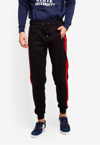Brave Soul black Contrast Stripe Jogger Pants 4FD0DAA125A095GS_1