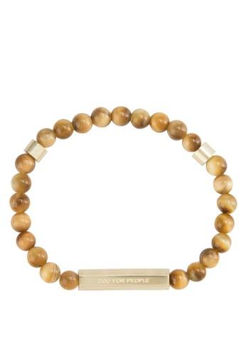 Skaesprit 工作la 串珠黃銅手鍊, 飾品配件, 手環