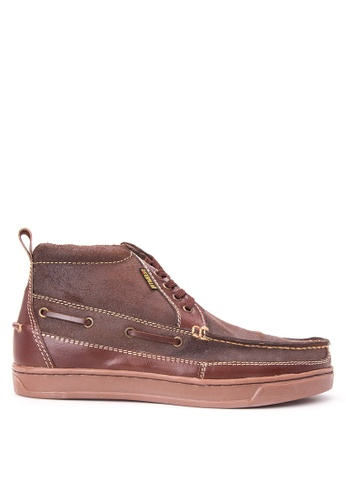 Caterpillar brown Moc-toe Lace-up Boots CA367SH14KXPPH_1