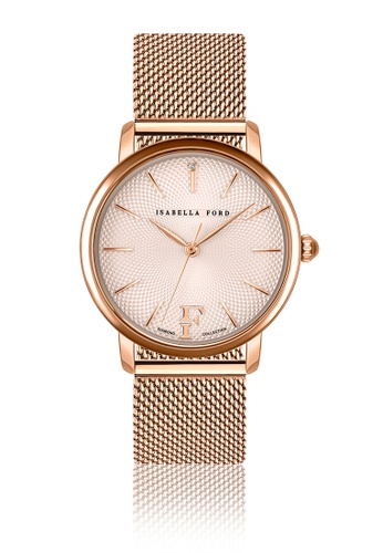 Isabella Ford multi Isabella Ford Juliet Rose Gold Mesh Women Watch 310AEACCC57164GS_1