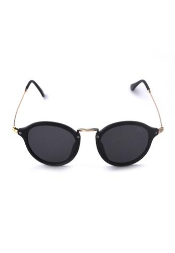 2i's to eyes black Sunglasses│Vintage Round Black Frame│UV400 Protection│2is YovaD B5A4AGLB850B9AGS_1