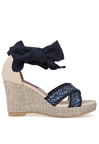SPUR blue Color Meld Platform Wedge SP642SH85MDMHK_1