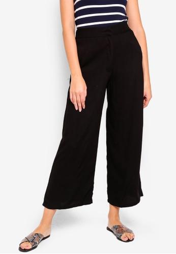 Cotton On black Wide Leg Drapey Pants CF744AA1EE86A2GS_1