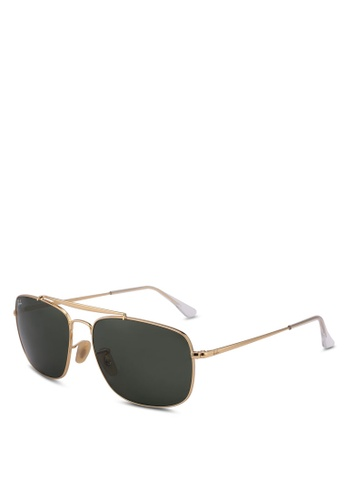 Ray-Ban gold RB3560 Sunglasses E2A8BGLEB4FCD8GS_1