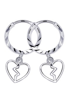 Broken Heart Loop Dangling Earring