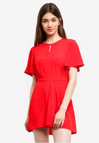 Something Borrowed red Flare Sleeves Fit And Flare Dress A4596AA762015DGS_1