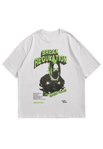 Twenty Eight Shoes Trend Printed Short T-shirt 5286S21 335F0AA39516A0GS_1