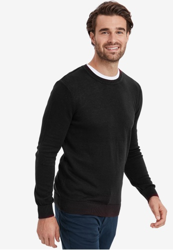 LC Waikiki black Basic Crew Neck Knitwear Sweater 20A3EAA2C067CDGS_1