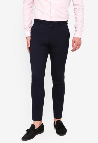 Topman navy Navy Skinny Smart Trousers 4154AAA09D0691GS_1