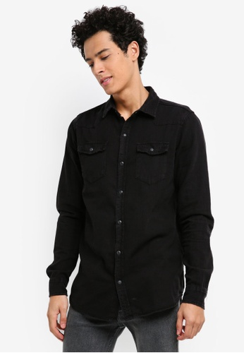Cotton On black 91 Shirt 2B328AAB6FDFFEGS_1