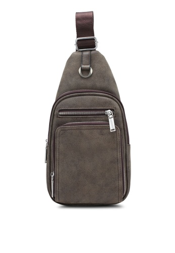 ZALORA brown Multi-Compartments Sling Pack 953BCZZ30A0A6BGS_1