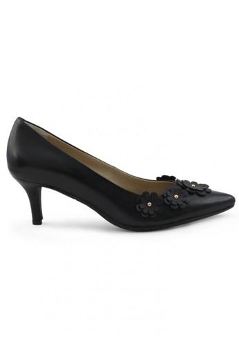 Shu Talk black Nappa Pointed Toe Low Heels SH617SH2UXHFHK_1
