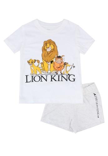 FOX Kids & Baby grey Stone Melange T-Shirt And Shorts Set 224C4KAAEE2F8EGS_1