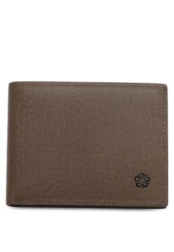 Wild Channel brown Men's Genuine Leather RFID Blocking Bi Fold Wallet 2D3F2ACC4DC990GS_1