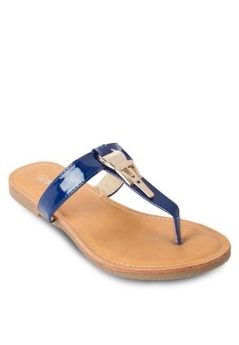 金飾夾腳涼鞋, 女鞋,esprit台灣門市 涼鞋