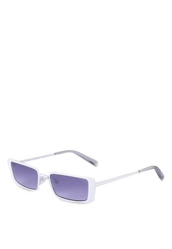 Kendall + Kylie white Valentina Sunglasses FC56AGL8878BC7GS_1
