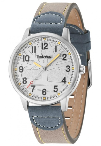 Timberland grey Abington TBL.15030MS/13 Grey Leather Strap Women Watch TI063AC95TQYMY_1