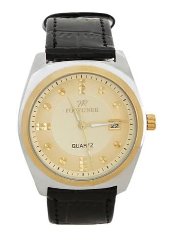 Fortuner Watch Jam Tangan Pria FR K1011BG - Silver Gold