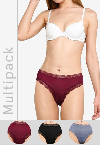 Hollister multi Gilly Hicks 3-Pack Micro Cheeky Panties 0F902US261BD33GS_1