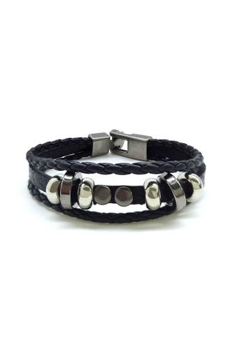 Her Jewellery black Amery Bracelet 1D5DEAC64D7BA1GS_1