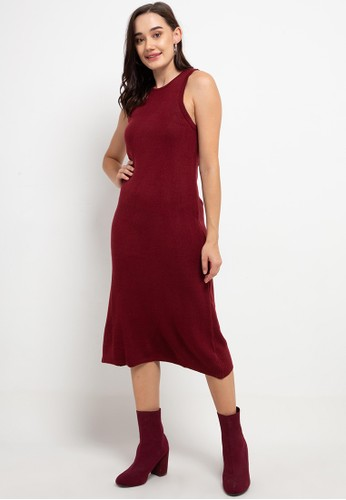 Noir Sur Blanc red Long Dress Sleeveless E3482AA4FB74FFGS_1