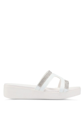 Carlton London 白色 鑽飾涼鞋 8F68ASHBD14389GS_1