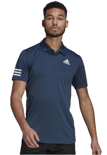 ADIDAS navy club 3-stripe tennis polo shirt B568FAA8F127B1GS_1