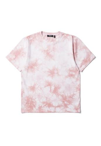 Fivecm pink Tie dye print tee E4E5AAA36F1F84GS_1