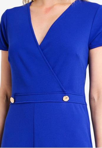 a431f9466f8c Buy Dorothy Perkins Cobalt Wrap Button Jumpsuit Online on ZALORA Singapore