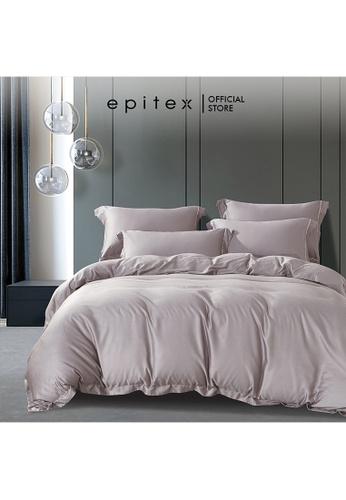 Epitex pink Epitex HOMME 1600TC Tencel Bedsheet - Fitted Sheet Set - Bedding Set - EHS2208 (NUDE) DDF9FHL7B3E233GS_1