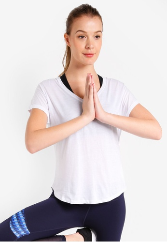 Cotton On Body white Rolled Sleeve Gym T-Shirt AA52AAA804E8ACGS_1