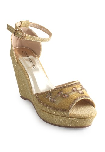 CLARETTE gold Clarette Wedges Kyoko Gold CL076SH79CNGID_1