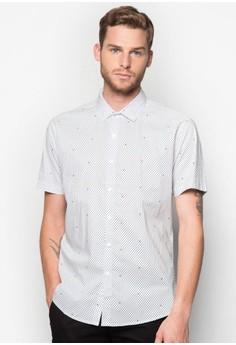 Polka Dot Print Short Sleeve Shirt