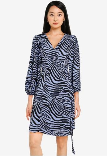 ONLY blue Jenni  Wrap Dress A9851AA6180807GS_1
