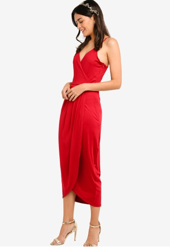 ZALORA red Bridesmaid Wrapped Cami Dress 295A2AA6163201GS_1