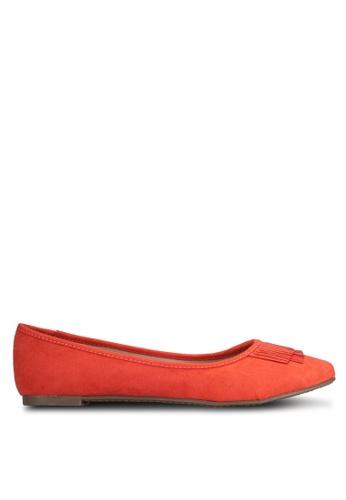 Marie Claire orange Fringe Ballerina Flats MA158SH0RCZZMY_1
