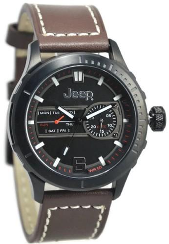 Jeep JPW65602 Jam Tangan Pria Leather Strap - Cokelat Hitam